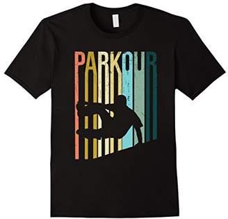 Vintage Distressed Style Parkour Silhouette T-Shirt