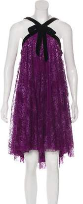 Philosophy di Lorenzo Serafini Sleeveless Lace-Accented Midi Dress
