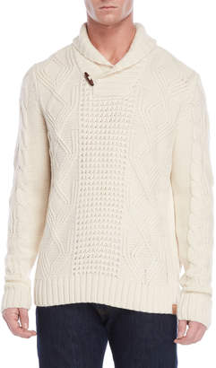 Weatherproof Vintage Shawl Collar Fisherman Sweater