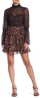 BCBGeneration Tiered Mock Neck Dress
