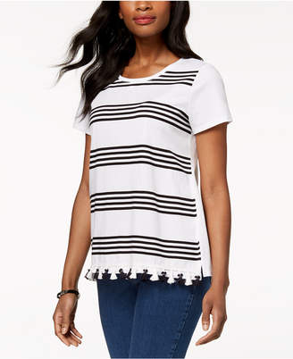 Charter Club Tassel-Trim T-Shirt, Created for Macy's