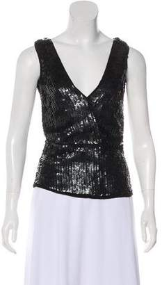 Cecilie Bahnsen Sequined Sleeveless Top
