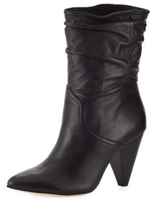 Joie Gabbissy Slouchy Leather Mid-Calf Boots