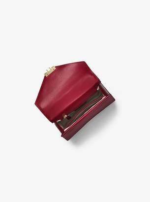 MICHAEL Michael Kors Sloan Color-Block Leather and Logo Satchel