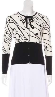 Blumarine Intarsia Button-Up Cardigan