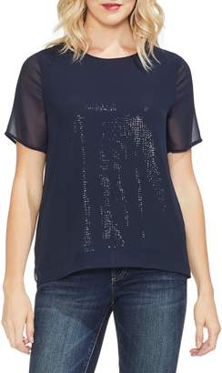 Vince Camuto Sequin Chiffon Top