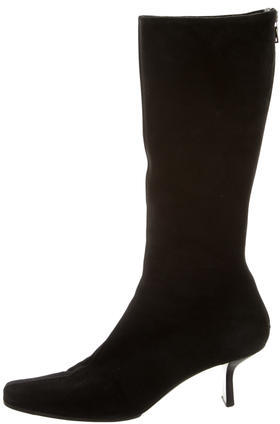 pradaPrada Suede Mid-Calf Boots
