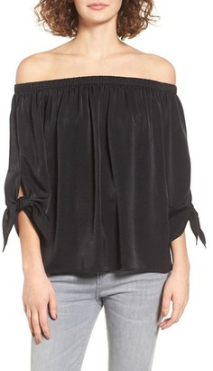 Women's Soprano Tie Sleeve Off The Shoulder Top $45 thestylecure.com