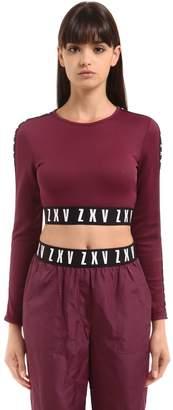 Versus Zayn X Jersey Crop Top