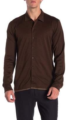 David Donahue Long Sleeve Jacquard Shirt