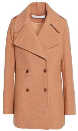 Double-Breasted Wool-Blend Coat