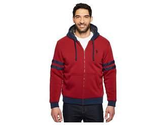 U.S. Polo Assn. Fleece Hoodie with Sherpa Lining Men's Sweatshirt