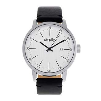 Simplify Women 'The 2500' Precise Professional Quartz Movement Metal and Leather Watch(Model: BOUBM3101)