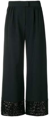 Gianluca Capannolo sequins embellished flared trousers