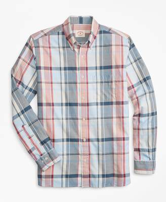Brooks Brothers Plaid Summer Twill Sport Shirt