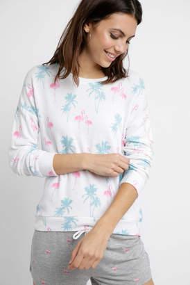 PJ Salvage Tropicana Flamingo Sweatshirt