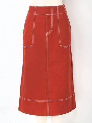 Moussy (マウジー) - MOUSSY COLOR STITCH LONG SK マウジー スカート