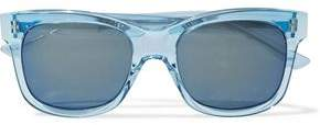 Christopher Kane Square-Frame Acetate And Silver-Tone Sunglasses