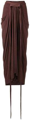 Rick Owens Lilies ruched detail skirt
