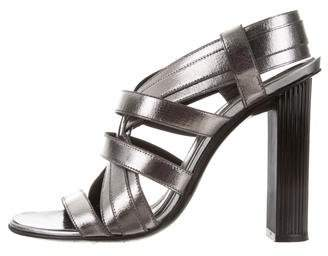 Robert Clergerie Clergerie Paris Metallic Crossover Sandals