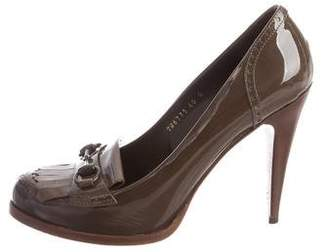 Gucci Patent Leather Horsebit Pumps