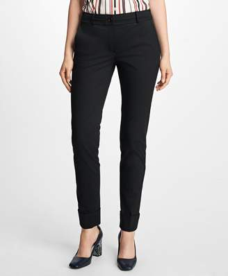 Brooks Brothers Cuffed Cotton Twill Trousers