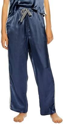 Topshop Side Stripe Satin Pajama Pants