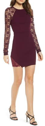 Love, Nickie Lew Lace Sleeve Body-Con Dress