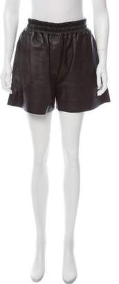 Acne Studios Lambskin Pleated Shorts