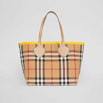 Burberry The Large Giant Tote in Colour Block Check