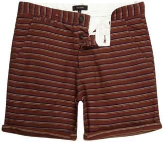 River Island Mens Brown textured stripe slim fit chino shorts