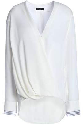 Rag & Bone Wrap-Effect Draped Silk Blouse