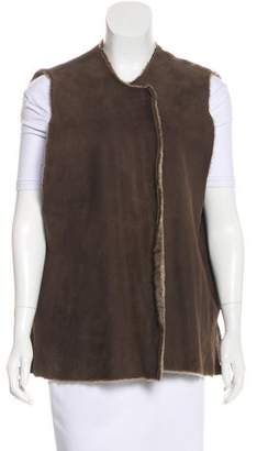 Zambesi overlapped shearling vest Shop Offer For Sale kqr0FLyk