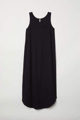 H&M Jersey Maxi Dress - Black - Women