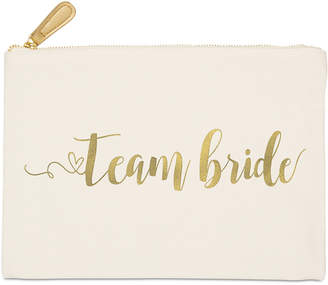 Cathy's Concepts Cathy Concepts Gold Foil Team Bride Canvas Clutch