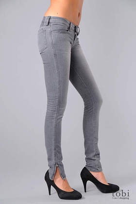 Ksubi Super Skinny Zip Jeans in Roadie Grey