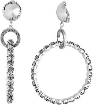 Alberta Ferretti Crystal Hoop Earrings