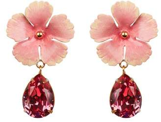 Jennifer Behr Lucia Pink Flower Earrings