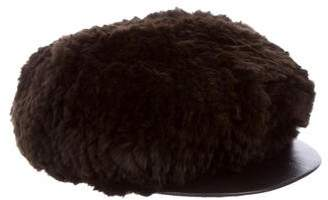 Surell Fur Leather-Trimmed Hat