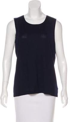 Magaschoni Silk & Cashmere Sleeveless Top