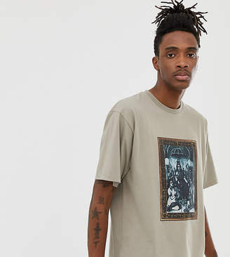 Heart N Dagger oversized t-shirt with print