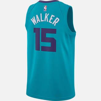 Nike Men's Air Jordan Charlotte Hornets NBA Kemba Walker Icon Edition Connected Jersey