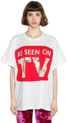 Jeremy Scott As Seen On Tv Print Jersey T-Shirt