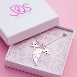 J&S Jewellery Will You Be My Maid Of Honour Gift Card Necklace
