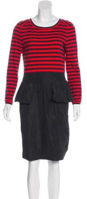 Marc by Marc Jacobs Long Sleeve Knee-Length Dress