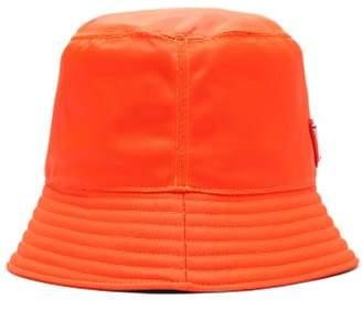 Prada - Triangle Logo Bucket Hat - Mens - Orange