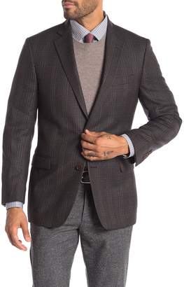 Brooks Brothers Brown Plaid Two Button Notch Lapel Regent Fit Wool Blazer