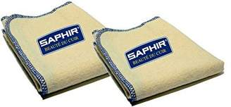 Saphir France Saphir Shoe Polish Cloths - Set of Two - 100% Cotton - for Polishing and Shining Footwear