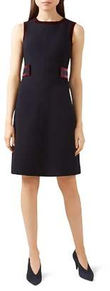 Hobbs London Celia Velvet-Trim Dress - 100% Exclusive