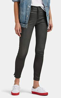 Rag & Bone Women's Leather High-Rise Ankle Skinny Jeans - Gray